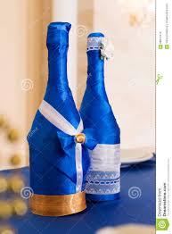 Champagne Bottle Decoration Wedding Decoration Of Champagne Bottles Stock Photo Image 68074410