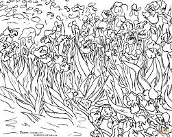 Small Picture Irises By Vincent Van Gogh coloring page Free Printable Coloring