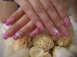 ピンク 水色 紫 ネイル