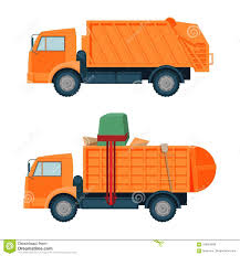 Dumpster Bunny Designs Long Orange Dumpster Truck With Empty And Full Body Set