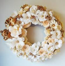 Christmas Paper Flower Wreath Elegant Holiday Christmas Wreath Assorted Paper Flowers Customized