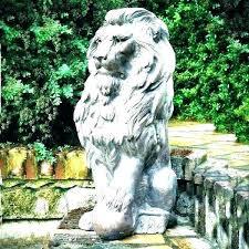 lion concrete statue garden statues for es sculpture adelaide