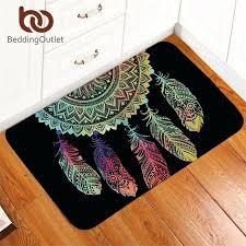 dream catcher rug carpet non slip soft rug mandala floor mat absorbent bohemian colorful feathers doormat for bedroom