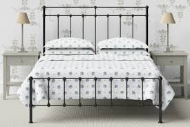 black metal bed. Double Wrought Iron Bed In Black With Mesh Base Metal