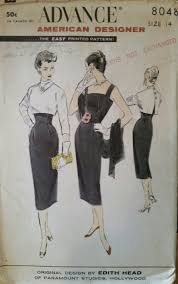 Edith Head Designs Patterns 1960s Dress Pattern By Advance American Designer Original
