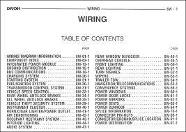 trailer 2005 dodge ram truck wiring diagram manual original fair