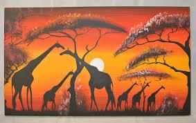 african giraffe oil canvas