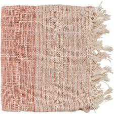 artistic weavers erindale burnt orange cotton blend throw s00151099110 the home depot