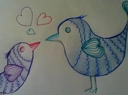 cute love bird drawing. Modren Bird Cute And Easy Drawing Love Birds  Step By Step And Bird Drawing E