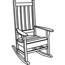 rocking chair clipart. Rocking Chair Clipart Black And White Under The Vintage School Wooden Tablet Arm H