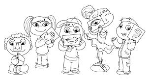 Fives Senses Coloring Page Five Senses Kindergarten Colors