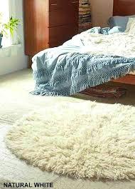 round flokati rug stylish natural white 6 round rug premium wool pile superior hand made authentic