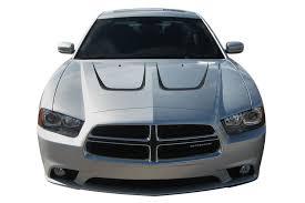 2011 2014 Dodge Charger Hood Stripes Scallop Hood Decals Mopar Style Vinyl Graphics Kit