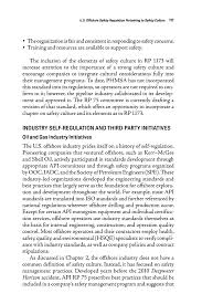 u s offshore safety regulation pertaining to safety culture  page 117
