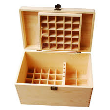 new design wooden essential oils storage box 56 holes bilayer multifunction natural pine wood customizable without paint f007015 storage box wooden box