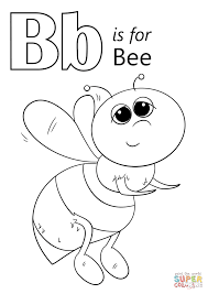 Small Picture Letter B is for Bee coloring page Free Printable Coloring Pages