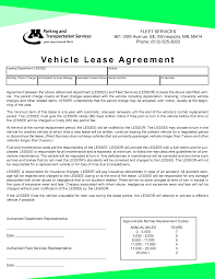 Vehicle Lease Template - April.onthemarch.co