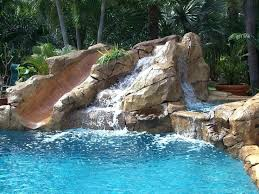 in ground pools with slides. Custom Pool Slides For Inground Pools Swimming Waterfall With Slide Inflatable In Ground