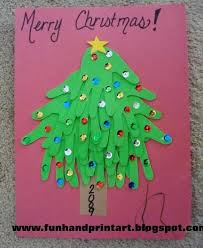 Foam Christmas Tree Arts And Crafts Card With Gold Stars Sequins Foam Christmas Tree Crafts
