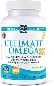 Nordic Naturals <b>Ultimate Omega 2X</b> - Extra Omega-3s Support Heart ...