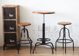 american country style retro bar stool tables industrial lift metal old chairs upholstered furniture exports buy industrial furniture