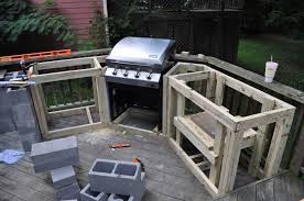 Imposing Outdoor Kitchen Cabinet Frames From Plywood Material With Built In  Steel Outdoor Kitchen Grill Also