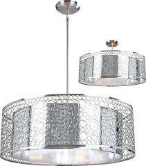 drum shade chandelier drum ceiling light z lite modern chrome wide drum hanging light fixture