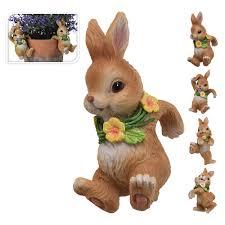 Украшение для <b>горшка</b> Кролик 7,5х6х12 см в ассортименте ...
