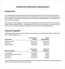 Sample Confidential Memo 6 Documents In Pdf