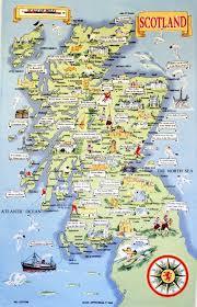 large tourist illustrated map of scotland  scotland  united