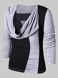 Faux Twinset Panel Design Shirt Casual Faux Twinset Panel T Shirt