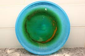 swedish blown glass plate by john orwar lake for ekenas 1960s 2