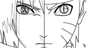 Hyuuga Hinata And Uzumaki Naruto Coloring Page Pages Halloween Cat