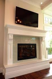 architecture glass tile fireplace surround new ocean mini fireplaces intended for 1 from glass