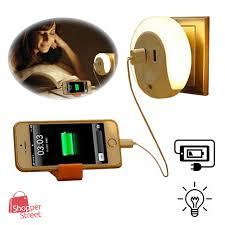 multipurpose night light with 2 usb port free malaysia 2 pins adapter