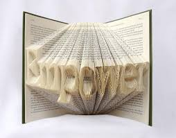 personalized name word folded book art book sculpture weddin