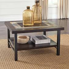 Ashley Furniture Marion Coffee Table With Stools Black Glass