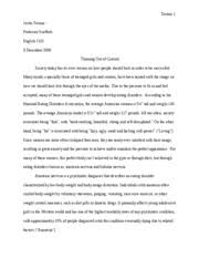 eating disorder research paper toruno justin toruno professor  eating disorder research paper toruno 1 justin toruno professor scaffetti english 1101 3 2006 thinning out of control society today has its