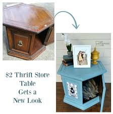 octagon end table dog bed before after hexagon side table makeover octagon table dog bed