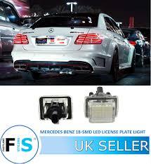Mercedes Cla Led Lights Details About Mercedes Benz Slk E S C Cla Class White Led License Plate Light Error Free Oem