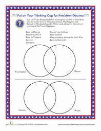 Presidential Comparison Chart Worksheet Education Com