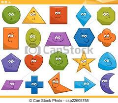 Children Education Cartoons Cartoon Basic Geometric Shapes Cartoon Illustration Of Basic