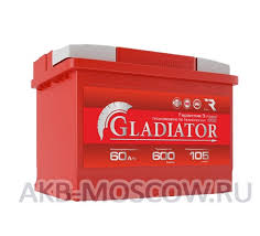 Автомобильный аккумулятор <b>GLADIATOR</b> 6CT-<b>60</b> L (обратная ...