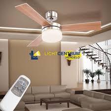 Bolcom Plafondlamp Met Ventilator Palau 3 Grijze Bladen En