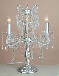 image of crystal chandelier table lamp vintage