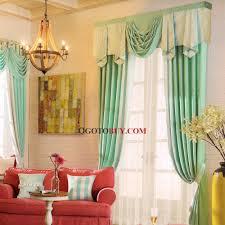 Printed Curtains Living Room Elegant Curtains Room Darkening Mint Green Pattern Print No