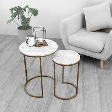 nordic creative round marble coffee table small apartment mini seat corner