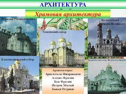 Презентация на тему Культура России xvii века Обмирщение  9 АРХИТЕКТУРА