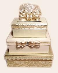 amazon com gold wedding card box, card holder, 3 tier stacked Wedding Cards Box Holder gold wedding card box, card holder, 3 tier stacked, lace, handmade, wedding card box holder with lock