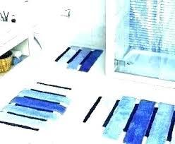 navy bathroom rug set blue bath rugs striped plush light